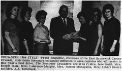 East Brunswick Cancer Crusaders, 1964 (Ereiss1) Tags: vintage eastbrunswick nj