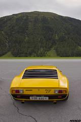 SV from behind (Iceman_Mark) Tags: lamborghini miura yellow design marcello gandini bertone 1972 1970s supercar summer passione engadina 2016 samedan airport stmoritz engadin graubnden switzerland alps