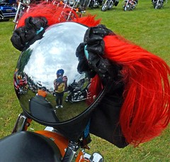 Hairy Brainbucket (FrogBum) Tags: spring harleydavidson motorcycle hog hogs macombcounty harleyfest brainbucket sterlingheightsmichigan