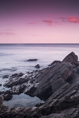 bovisand (Joderzz) Tags: sunset sea seascape beach water rock clouds landscape rocks long exposure location smokey bovisand