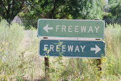 Which Way? (So Cal Metro) Tags: sign freeway directions hwy395 trafficsign bishop millcreek 395 us395 easternsierra roundvalley