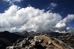 Clouds on the way (Shalafi81) Tags: sky panorama mountain fog clouds landscape nikon nuvole stones val cielo alta tamron nebbia alto montagna trentino badia adige 18270 sassongher d5100