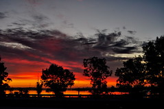 2012-11-24 20-21_04 (J Rutkiewicz) Tags: sunset reflection water clouds woda chmury zachodslonca
