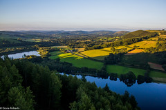 Evening shadows over Talley Lakes (EionaR. [busier than ever]) Tags: carmarthenshire talley wfc floatingsensations floatingoverwales