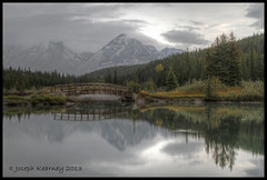 """Early Morning at Cascade Pond"" (HDR Image) (JosephK2012) Tags: autumn trees mountains reflection fall water clouds landscape pond scenic ab alberta banffnationalpark cascadepond"