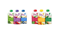 Plum baby food (FoodBev Photos) Tags: food fruit plum babyfood colourful yogurt pouches wholegrain