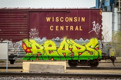 REAPS (TheLost&Found) Tags: urban art minnesota wisconsin train photography graffiti paint vibrant painted exploring central minneapolis explore boxcar graff burner freight wsc reaps reeps thelostandfound