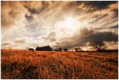 Autumn Landscape (Heathcliffe2) Tags: autumn fall church field clouds isleofman westbaldwin