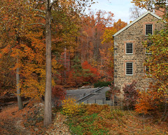 The Goldman Stone Mill on the Bronx River, New York Botanical Garden, Bronx, New York City (jag9889) Tags: park city nyc autumn trees plants ny newyork building fall mill colors stone architecture garden bronx peak landmark historic foliage goldman botanicalgarden nybg newyorkbotanicalgarden bronxpark 2013 peakfoliage jag9889 goldmanstonemill