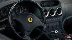 Ferrari 550 Maranello (M-Gruppe.net) Tags: black canon 50mm interior details 14 rear ferrari bblingen 7d brakes rims maranello sommerfest 550 meilenwerk 2013