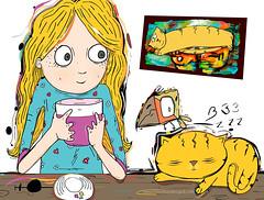 Gtos (:::Klaudis :::) Tags: color digital gatos ilustracion vectores