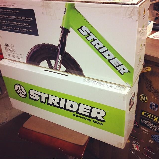 さあこちらも入荷してきました!! STRIDERです! #strider #eirin #商品入荷 #ランニングバイク
