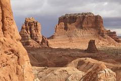 Goblin Valley State Park - Utah (Geourjon Benoit) Tags: park wild horse usa cloud storm castle clouds landscape utah sand butte desert state united valley goblin hoodoo states paysage mollys unis hoodoos etats