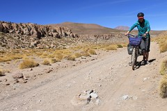 A sandy section near Quetena (Pikes On Bikes) Tags: high hiking altitude bikes bolivia biking pikes sud volcan lipez uturuncu vision:mountain=0721 vision:outdoor=099 vision:sky=0613 vision:clouds=0584