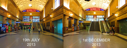 Adelaide Railway Station stairs - Before & After
