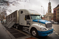 Haddad's Film Truck (Andriy Prokopenko) Tags: nyc newyork truck unitedstates manhattan wideangle trailer greenwichvillage day344 canonef24105mmf4lisusm canon6d day344365 3652013 365the2013edition 10dec13