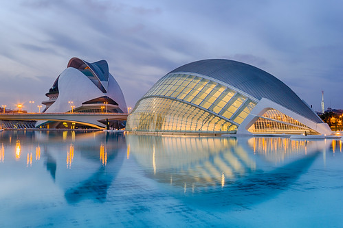 Blue hour at the City of Arts and Sciences - Valencia