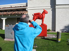December 17, 2013 (13) (gaymay) Tags: california christmas gay red dog love statue happy desert palmdesert traid elpaseo