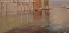 Eugenio Prati Canal Grande olio su tela Collezione privata