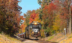 NS 8854 61A Chrisney IN 21 Oct 2012 (Train Chaser) Tags: ns norfolksouthern c409 ns8454 ns61a