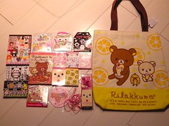 Kawaii Haul 1/6/14 - Rilakkuma Store and Kiddy Land: Kichijoji, Tokyo, Japan (happyakuen) Tags: cute japan japanese tokyo kawaii stationery crux stationary qlia rilakkuma sanx kamio