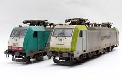 BR 186-199 en BR 186 148 (Romar Keijser) Tags: br ct 186 ho 187 199 treinen schaal nmbs 148 modelspoor h0 modelbouw modeltreinen vervuild modeltrein captrain vervuilen weatheren