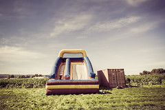 Summer bounce (LukeOlsen) Tags: usa grass oregon portland farm air cargo inflatable bounce bouncehouse cargocontainer lukeolsen