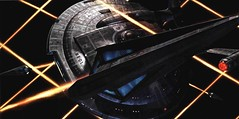 Tholians fighting the Enterprise NX-01 (Guardian Screen Images) Tags: show fiction trek star mirror tv fight ship space web alien battle science class weapon heat scifi conflict series spaceship enterprise universe starship darkly nx nx01 tholian tholians