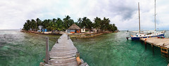 Tobacco Caye Panorama (Xuberant Noodle) Tags: ocean island paradise belize tropical