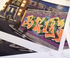 BG183 , LIMITED EDITION giclèe (Brim tats) Tags: nyc streetart graffiti stickers prints limited edition markers slaps tatscru giclee bg183