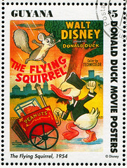 Guyana 0046 m (roook76) Tags: old cinema art film illustration vintage movie poster flying duck ancient squirrel comic message mail antique character postcard cartoon disney donald guyana historic retro stamp cover seal envelope animation letter aged 1994 walt postage postmark philately personage