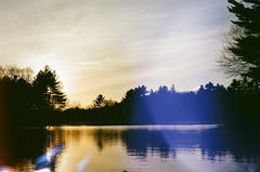 Sterling, CT (ryderb) Tags: sunset film 35mm fishing kayak pentax connecticut ct lightleak 35mmfilm kayaking pentaxk1000