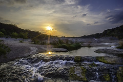 Sunset on the Pedernales River