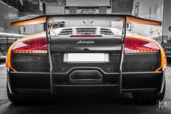 Lamborghini Murcielago LP670-4 SV (*AM*Photography) Tags: auto bw orange color car italian automobile extreme rear special exotic lamborghini rare supercar sv murcielago v12 motoring worldcars superveloce lp670