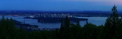 Vancouver at dusk - panorama (Smekermann) Tags: panorama vancouver twilight dusk cypress cypressbowl cypressbowlviewpoint