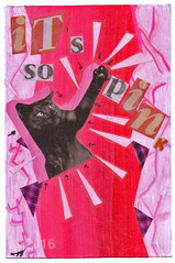 It's so Pink! from Emma Chang (tofuart) Tags: pink pinkweek mailart postcard collage sacramento california cat