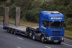 PX16JZT  Story, Carlisle (highlandreiver) Tags: px16jzt px16 jzt story construction rail transport haulage carlisle scania truck lorry wagon m6 cumbria wreay
