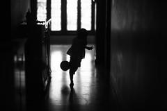 I ain't shooting blanks you know ! (N A Y E E M) Tags: umar kalam son football kick shoot today morning corridor 1stfloor home light silhouette rabiarahmanlane chittagong bangladesh sooc raw unedited untouched unposed availablelight indoors bokeh lulu
