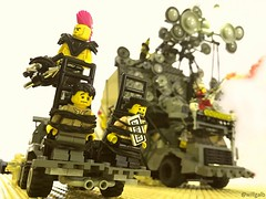 A Long Day On The Fury Road (willgalb) Tags: lego stack dubai 2016 mad max fury road warrior beyond thunderdome doofwagon lordhumungus melgibson tomhardy georgemiller wez tina turner