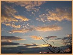 4964 v1 Sunset (Andy - Daft as a brush - don't ask!) Tags: 20161013 picasaborder sss sunset skyscape cloudscape
