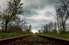 Way of Rail (KennyG-String) Tags: clouds cloudy forterie lake lakeerie longexposure movement neutraldensity niagara niagarafalls niagararegion ontario railwaytracks travelphotography water wellandriver windowstothesoul windy