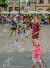 soap! (stevefge) Tags: krakow poland summer zomer people candid boys girls children kinderen kids bubbles playing play oldtown squares reflectyourworld