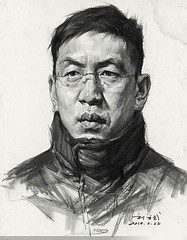 Drawing by a chinese or vietnamese artist 2010 (mike catalonian) Tags: male face portrait drawing 2010s 2010