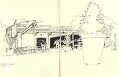 Capitainerie du port d'Epinal (lolo wagner) Tags: croquis sketch usk lorraine port