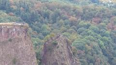 Blick von Aussichtspunkt Gans auf Burgruine Rheingrafenstein