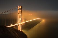 When the Fog Creeps In (UnsignedZero) Tags: california goldengatebridge item landscapes landscaping lens light marinheadlands night nightphotography object samyang12mmf2ncscs sanfranciscobay time water