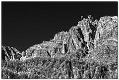 "Peaks And Moon [IR Effect] (""Deca"") Tags: montagna mountain alpedevero piemonte pedmont biancoenero blackandwhite effettoir ireffect monocromatico monochrome luna moon"