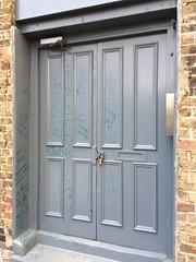 Door (My photos live here) Tags: door grey graffitti writing scrawl london camden capital city england leeke street