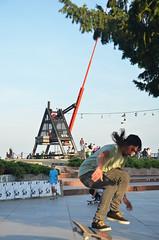 Jumping Prague (m.genca) Tags: prague praha praga europe europa repubblicaceca czech czechrepublic marcogenca d7000 nikon september settembre 2016 skate skateboard jump city sport street streetphotography