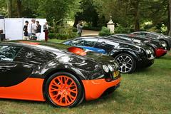 Bugatti Veyron line-up (Clment Tainturier) Tags: chateau de chantilly arts et elegance 2016 concours dlgance france bugatti veyron lineup supersport vitesse